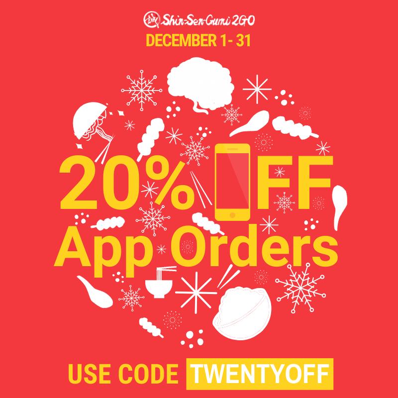20% Off App Orders w/ code twentyoff